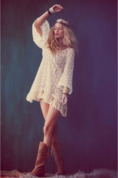 luv d lace dress wif boots. Hipster