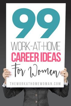 This list is amazing! Tons of legit work at home career ideas and jobs!
