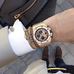 Today's Wristgame with Anil Arjandas Jewels bracelets in rose gold and black diamonds. Enjoy your day