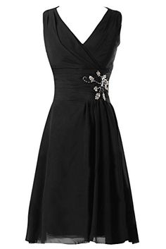 Sunvary Black V Neck Knee Length Chiffon Bridesmaid Prom Dresses Wedding Guest Gowns Homecoming Cocktail Dress US Size 20W- Black Sunvary http://www.amazon.com/dp/B00P7EUHYS/ref=cm_sw_r_pi_dp_twr.ub1YKE2WV