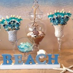 #SeaLife #CandyKabobs. #candy #candyskewer #beach #ocean #tropical #destinationwedding #candybarcouture #Summer #candybar #candybuffet #partyinspiration