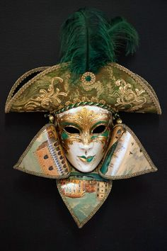 Admiral venetian papier mache for sale. 100% handcrafted in venice by venetian masters
