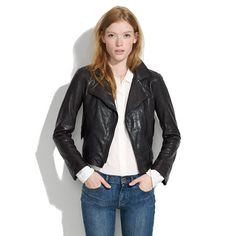 Madewell+-+Perfect+Leather+Motorcycle+Jacket - my ideal leather jacket... If only they had a vegan alternative.