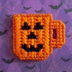 Plastic Canvas Pattern Page: October Mini Mug and