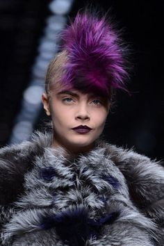 Beauty Moment: Karl's Punk Parakeets at Fendi - Harper's BAZAAR