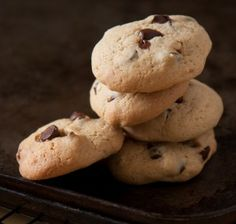 FODMAP recipe - Peanut Butter and Choc-chip Cookies