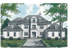 New American House Plan with 3482 Square Feet and 5 Bedrooms from