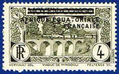 French Equatorial Africa 13 Stamp - Middle Congo Stamp - AF FEA 13-1 LH
