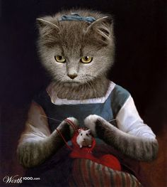 Photoshop Design by for Animal Renaissance 10 - Design Image Chat, Fancy Cats, Cat Mouse, Cat People, Cat Costumes, Here Kitty Kitty, Vintage Cat, Beautiful Cats, Crazy Cats