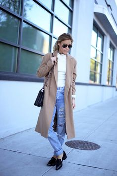 COAT ASOS (OLD, IDENTICAL AT TOPSHOP, ALSO LOVE THIS & THIS) | SWEATER RAG & BONE | DENIM TOPSHOP VIA NORDSTROM (ALSO LOVE THIS & THIS) | EYEWEAR RAY BAN | LOAFERS SIGERSON MORRISON (SIMILAR HERE & HERE) | BAG CHANEL