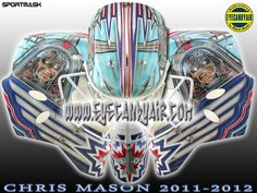 Chris mason winnipeg jets maiden tribute Goalie Mask by Steve Nash EYECANDYAIR