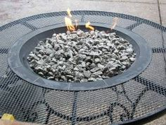 Easy gas fire pit