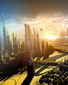 FUTURE CITY REALTIME on Behance