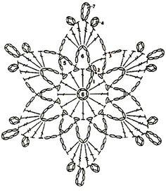Crochet Snowflake Pattern, Crochet Stars, Crochet Motifs, Christmas Crochet Patterns, Crochet Snowflakes, Crochet Diagram, Doily Patterns, Diy Crochet, Crochet Doilies