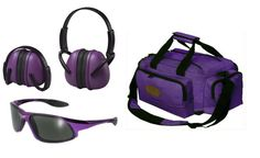Ladies Purple Range Outfit - Purple Deluxe Range Bag, ERB Muffs, Code 8 Glasses  #OutdoorConnection