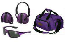 Ladies Purple Range Outfit - Purple Deluxe Range Bag, ERB Muffs, Code 8 Glasses  #OutdoorConnection