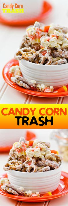 Sweet, salty, crunchy Candy Corn Trash is the perfect way to use up those bags of candy corn!