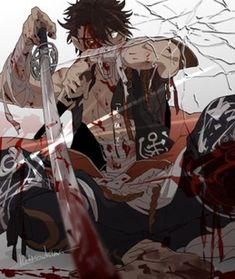 Manga Anime, Anime Art, Anime Boys, Mutsunokami Yoshiyuki, Character Design References, Touken Ranbu, Drawing Reference, Samurai, Concept Art