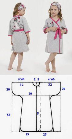Выкройка махрового халатика для девочки | Fusion of Styles