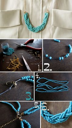 fashion loves people » Blog Archive » Necklace DIY: Braided bead necklace