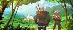 ArtStation - Geralt and Ciri, Lap Pun Cheung