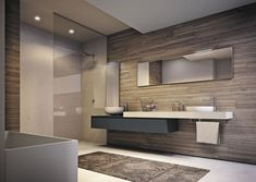 Contemporary bathroom / high-gloss / lacquered - MISTRAL - IDEAGROUP