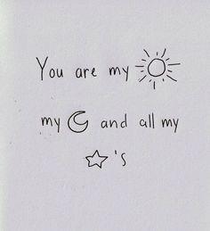Sol, luna y estrellas.
