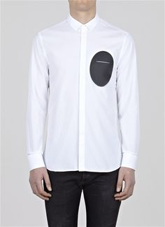 Oval Circle Print Shirt White/black