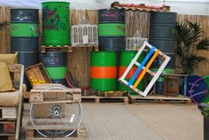 colourful and creative #oildrums #birdcages #streetmarketstyle