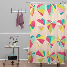 Jacqueline Maldonado Some Hearts Shower Curtain | DENY Designs Home Accessories