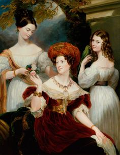 Elizabeth Stuart (d.1867), Lady Stuart de Rothesay, and Her Daughters, Charlotte (1817–1861) (Later Countess Canning), and Louisa (1818–1891) (Later Marchioness of Waterford)
