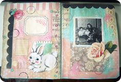 "some older ""in progress"" art journal pages."