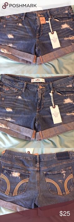 New Hollister Beach Midi Jean Shorts (size 11) Tags still on. Never worn. Hollister Beach Midi Jean Shorts. Size 11. Hollister Shorts Jean Shorts