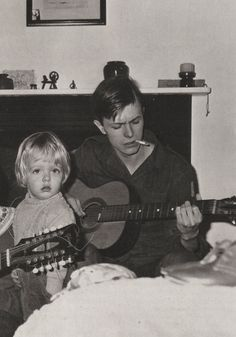 David Bowie and John Hutchinsons son Christian on October 30 1968