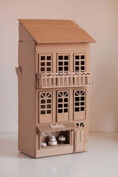 HOCO (New Orleans) hallway - cardboard buildings Cardboard City, Cardboard Design, Cardboard Sculpture, Cardboard Toys, Paper Design, Cardboard Houses, Cardboard Model, Design Design, Box Houses
