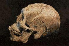 These Kevin Champeny Mosaics Use Thousands of Handmade Little Models #skulls #skullart