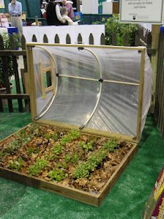Such a flippin dandy idea for an easy, flexible & simple green house