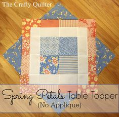 Prize information and a non-applique option for the Spring Petals QAL - The Crafty Quilter