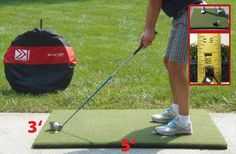 Golf Mat 3x5 High Quality Golf Practice Mat. Large Enough to Hit all Clubs from SW to Driver and stand in a comfortable golf position. 100% Quuality Crafted in the USA