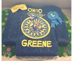 An FFA graduation cake