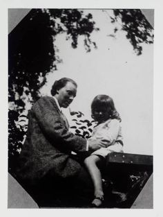 Clive Bell with his son Julian at Asheham House, the home of Leonard and Virginia Woolf in Sussex circa 1912