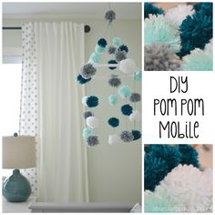 A Burst of Beautiful: DIY Pom Pom Mobile