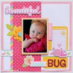 Beautiful Snuggle Bug - My Creative Scrapbook- April 2017 Creative Kit  Kit Club  PhotoPlay Paper- Bloom Collection  Doodlebug Designs- Spring Things Collection