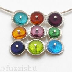 a go go 9 element necklace by fuzzishu - glass and silver