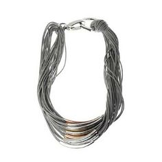 Buy Grey Adele Marie Tri Colour Tube Cord Statement Necklace from our Women's Necklaces range at John Lewis & Partners. Bold Necklace, Leaf Necklace, Jewelry Gifts, Jewellery, Letter Charms, Necklace Online, Gold Hands, Metal Necklaces, Necklace Designs