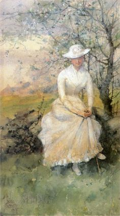 Spring (aka The Artists Sister) By Childe Hassam (USA)