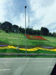 Boğaziçi köprüsü çevre yolu Wind Turbine, Istanbul, Spring, Beautiful