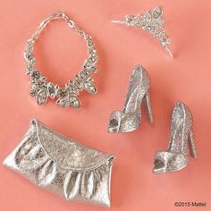 """""""Look at all this glittery goodness! #barbie #barbiestyle"""""""