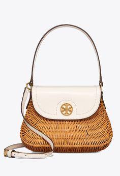 8f192afacae Tory Burch Lacquered Rattan Basket Rattan Basket, Summer Bags, Leather Shoulder  Bag, Shoulder