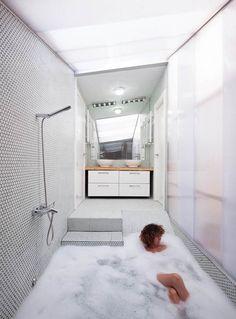#minimalist #bathroom \ House of Would by: Elii Architecture Office \ Photo © Miguel de Guzman www.imagensubliminal.com \ Madrid, Spain